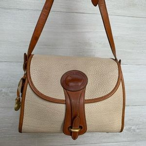 Vintage Dooney & Bourke Cream Brown Crossbody Bag